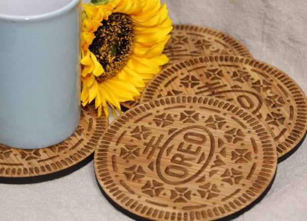 EXTRA LARGE BISCUIT COASTERS - OREO