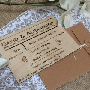 ENVELOPES INCLUDED CELEBRATION STRING AND WASHER CLOSURE
