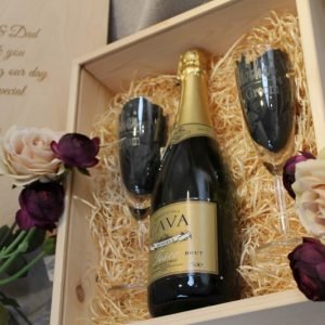 Personalised Box & Celebration Glasses Set