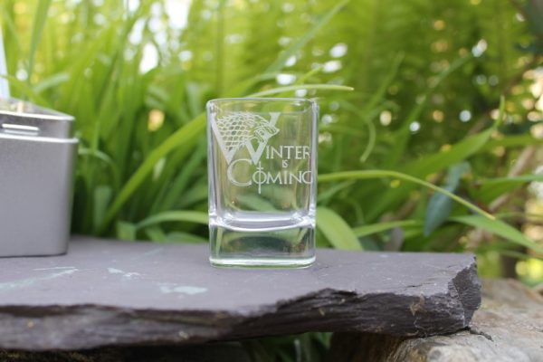 GAME OF THRONES INSPIRED SHOT GLASS GIFT SET IN A TIN