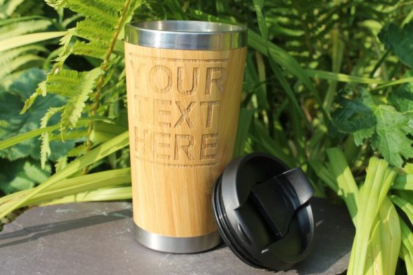 REUSABLE BAMBOO ECO TRAVEL LIDDED CUP