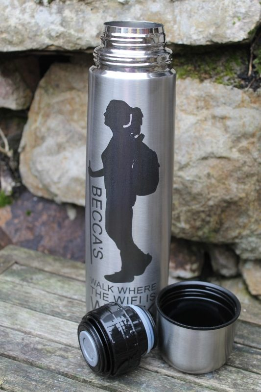 Personalised Stainless Steel Hobby Travel Flask & Cup
