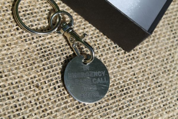 MEDIC ALERT HEALTH RISK CONDITION KEYRING KEY RING