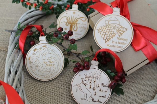 GAME OF THRONES CHRISTMAS BAUBLES