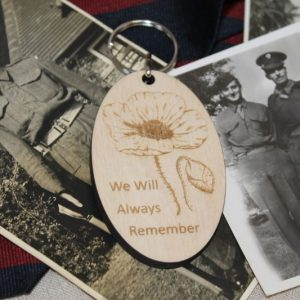 REMEMBRANCE POPPY KEYRING