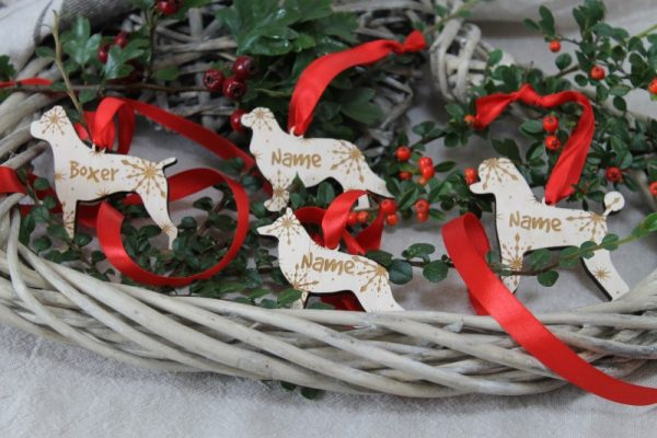 DOG BREED CHRISTMAS BAUBLE