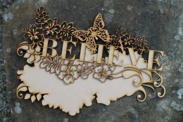 BELIEVE WORD CRAFT PLAQUE