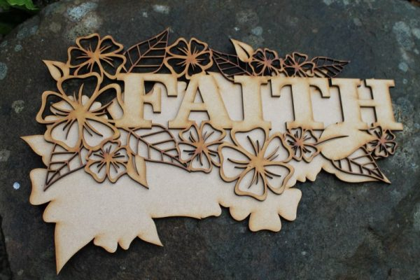 FAITH WORD CRAFT PLAQUE