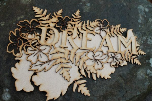 DREAM WORD CRAFT PLAQUE MDF