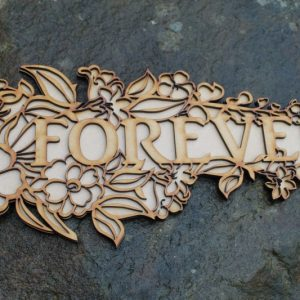 FOREVER WORD CRAFT PLAQUE