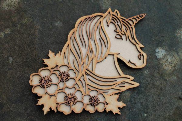FANTASY UNICORN STENCIL PLAQUE
