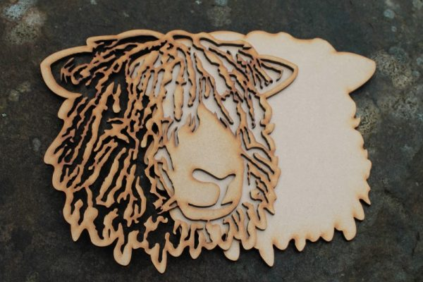 LONGWOOL SHEEP STENCIL PLAQUE