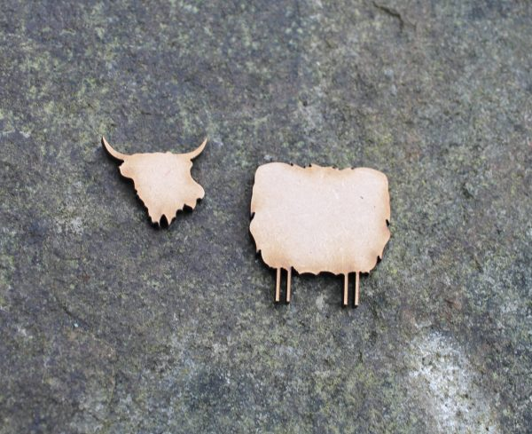 2 PART HIGHLAND COW