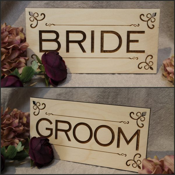CHAIR SIGNS WEDDING COUPLE OPTIONS