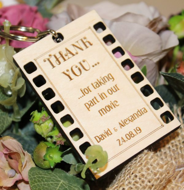 FILM STRIP FAVOUR WEDDING PLACE SETTING