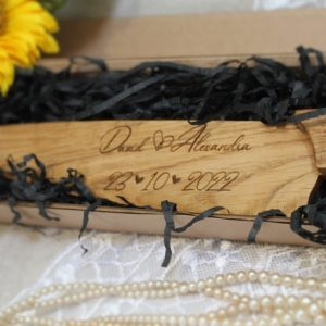 ENGRAVED WOODEN CELEBRATION KNIFE PERSONALISED