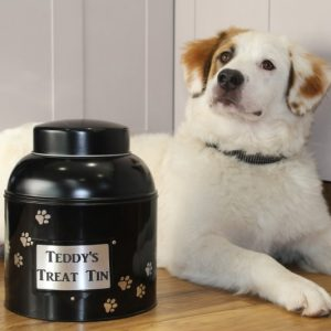 PERSONALISED DOG TREAT TIN