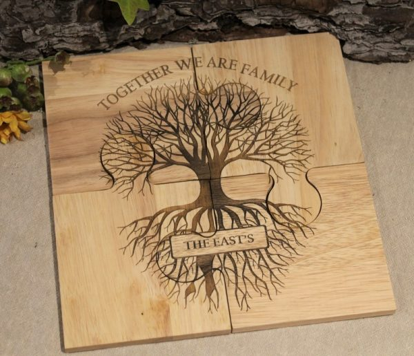 FAMILY TREE COASTER SET
