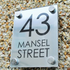 STAND OFF HOUSE NAME/NUMBER PLAQUE